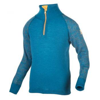 Janus Design Wool Jr. Trøye m/gl.lås Blå
