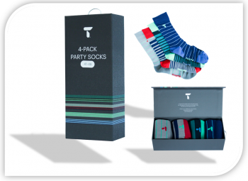 PARTY SOCKS: UNISEX (Cityskape sock, Stripes sock and Block socks) 41-46